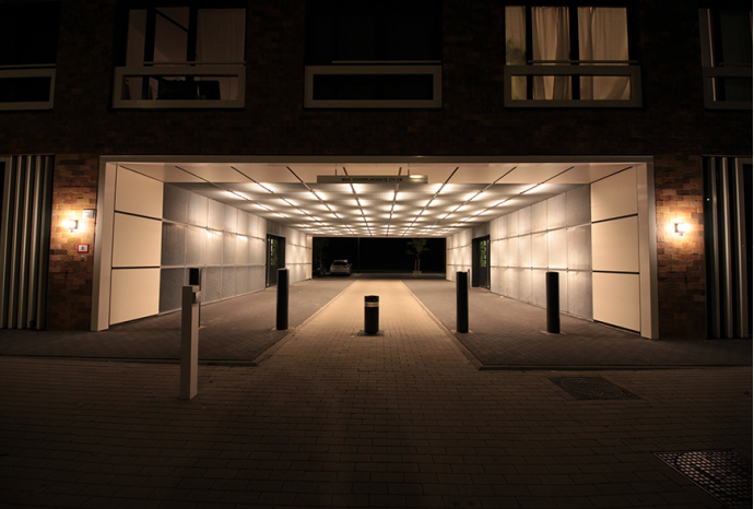 A tunnel in Amsterdam provided with LED lighting